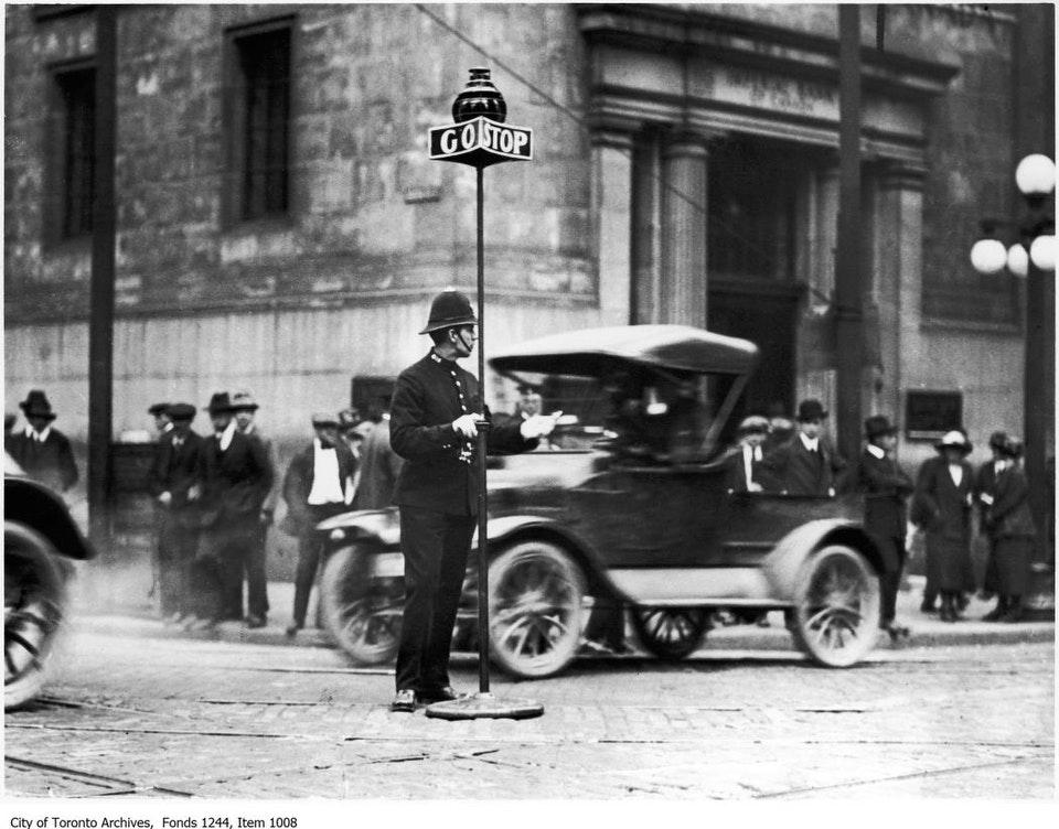 Policeman, corner of King and Yonge streets. - 1912