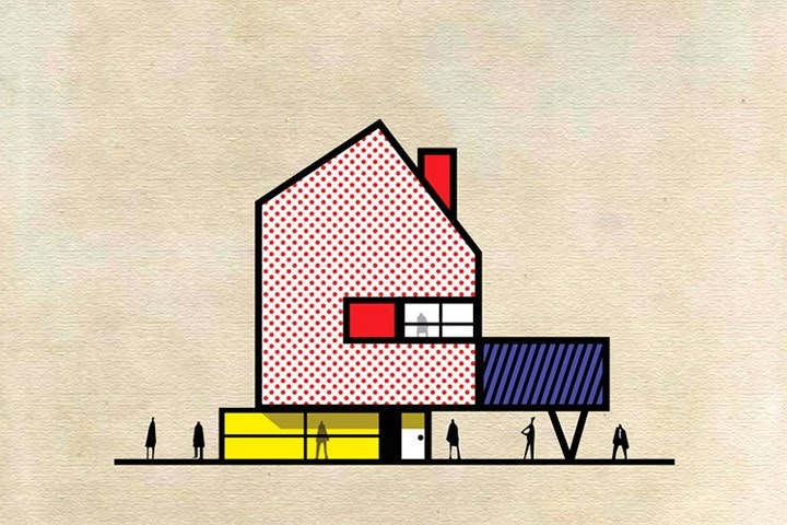 Federico Babina Draws Buildings in Style of Famous Artists