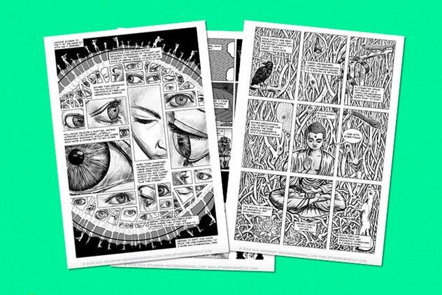 Иллюстратор Ник Сюзанис опубликовал диссертацию комикс bird in  Это первая докторская работа вышедшая в виде графической новеллы
