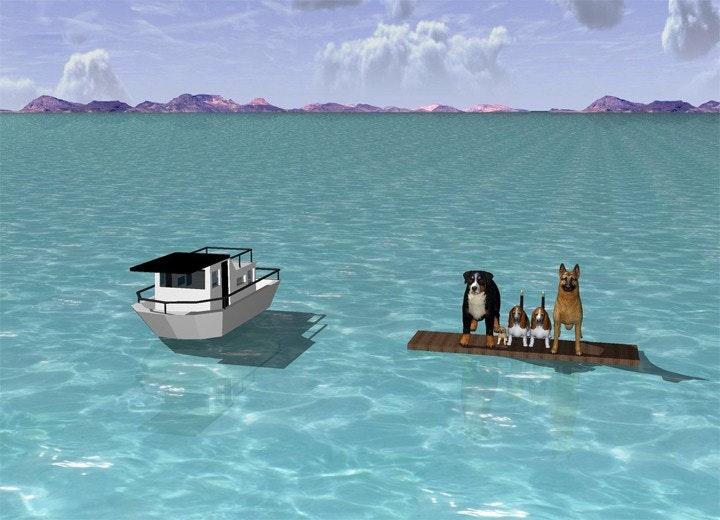 A Program Draws 3D Scenes By Description — Bird In Flight
