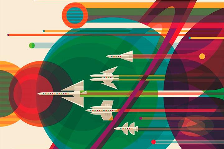 НАСА выпустило серию постеров о космических путешествиях будущего — Bird In Flight