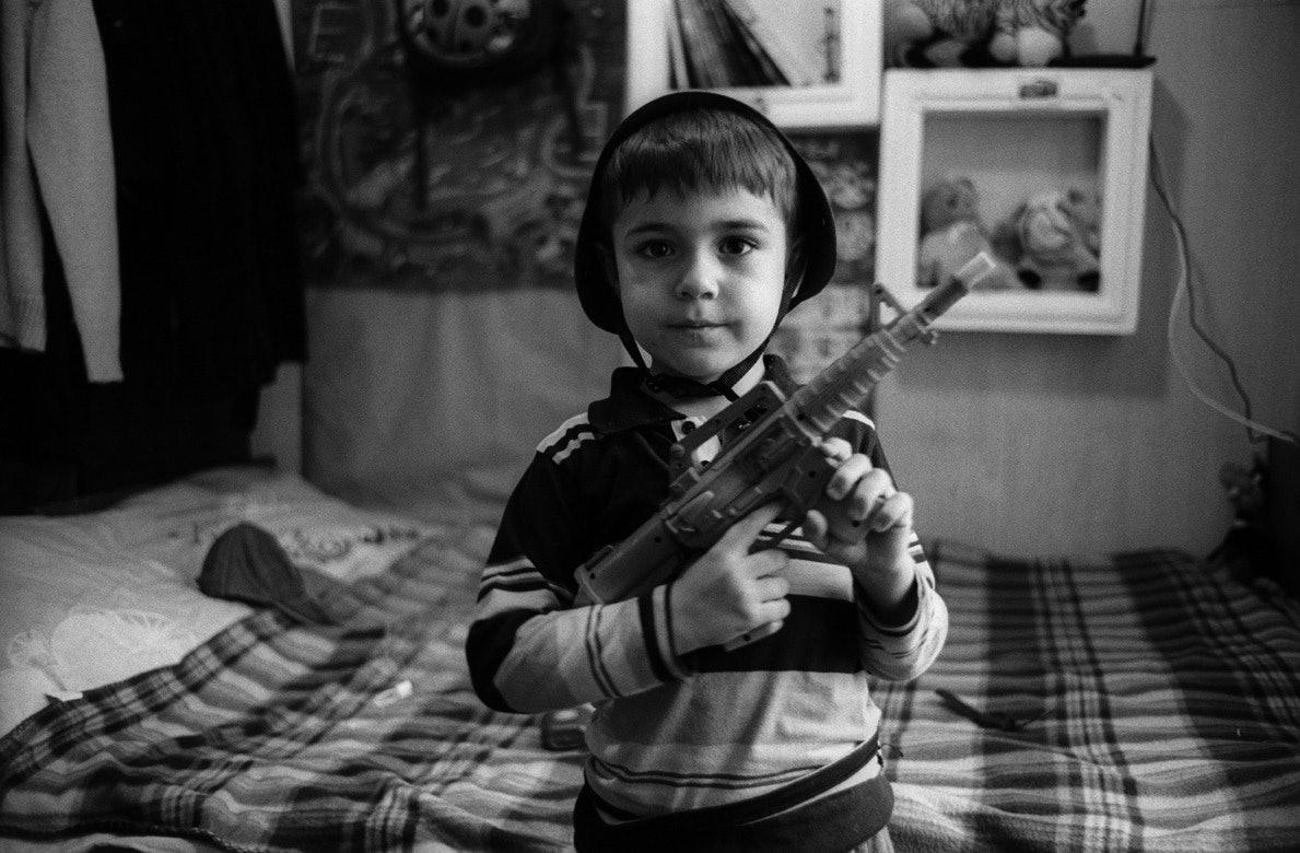 Богдан в коллективном центре проживания вынужденных переселенцев. Запорожье
