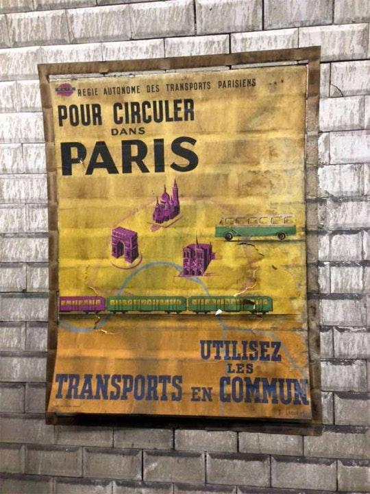 1950s Posters Found During the Renovation of a Subway Station in ...