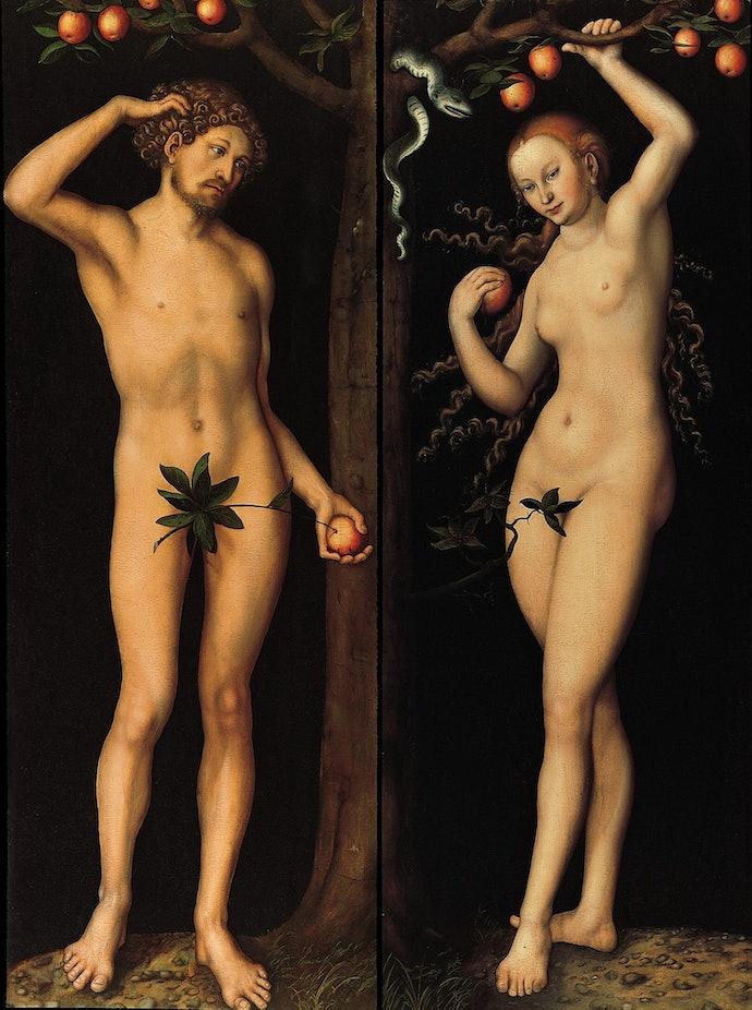 Lucas_Cranach_d.Ä._-_Adam_und_Eva_(Gemäldepaar),_Norton_Simon_Museum