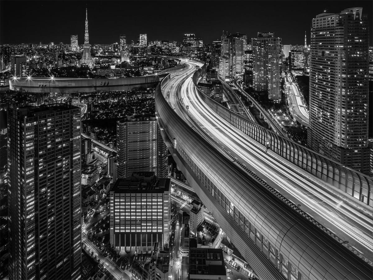 Куичи Хираяма. Из серии «Future Traffic Skyway». Победитель в категории «Архитектура» среди непрофессионалов