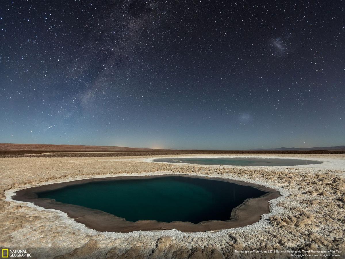 Фото: Виктор Лима. Lagunas Baltinache (Atacama Desert). Третье место в категории «Природа»