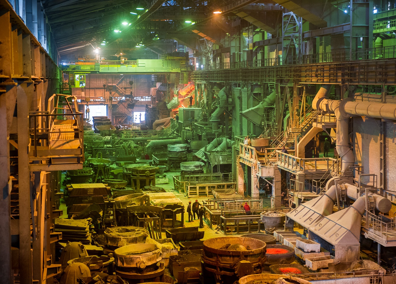Inside Zaporizhzhya Ferroalloy factory