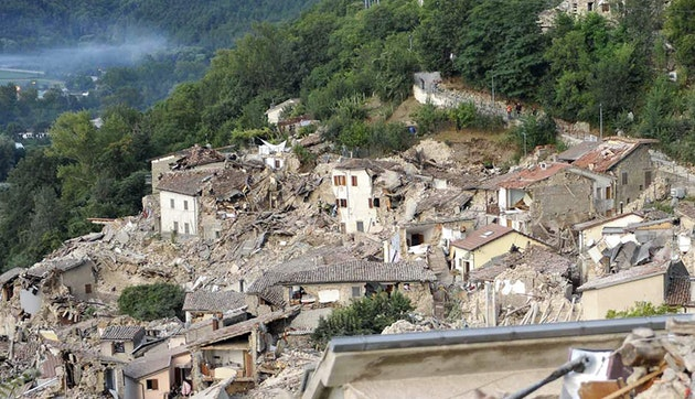 Aftermath of the Earthquake in Italy Shown in 'Before and