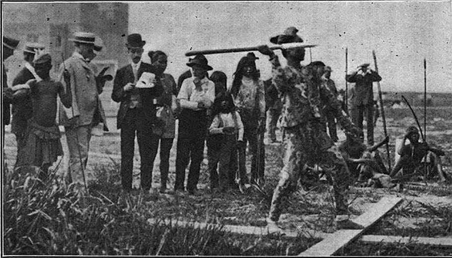 «Антропологические дни» Олимпиады в Сент-Луисе, 1904 год