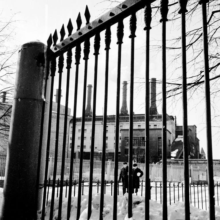 Валентин Хухлаев. Заводской пейзаж. Завод им. И.А. Лихачева (ЗИЛ). 1960