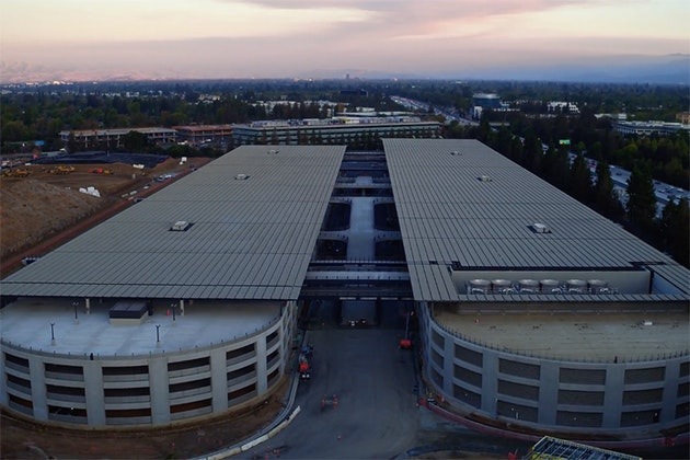 Futuristic Apple Campus Captured from a Drone — Bird In Flight