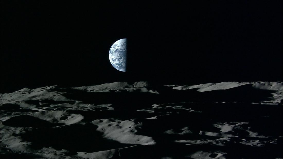 Восход Земли над Луной вHD-качестве