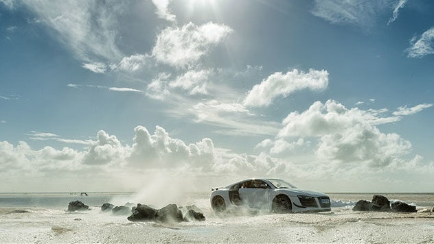 Photographer Created Audi Commercial Using A Toy Car Bird In Flight - Audi commercial