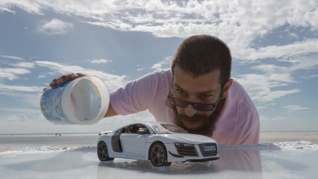 Photographer Created Audi Commercial Using A Toy Car Bird In Flight - Audi r8 commercial