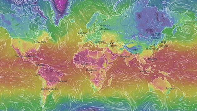 Realtime Weather Map.Infographic Of The Day Interactive Weather Map In Real Time Bird