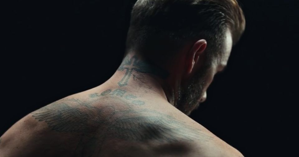 Татуировки Дэвида Бекхэма ожили, чтобы рассказать онасилии над детьми