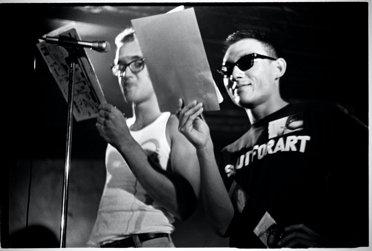 Keith Haring and Tseng Kwong Chi, Club 57, 1980