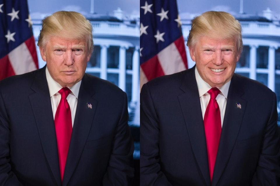 Новое приложение делает любого человека на фотографии улыбающимся. Дональд Трамп. Интернет — журнал birdinflight.com