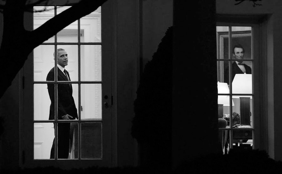 President Obama departs the White House- DC
