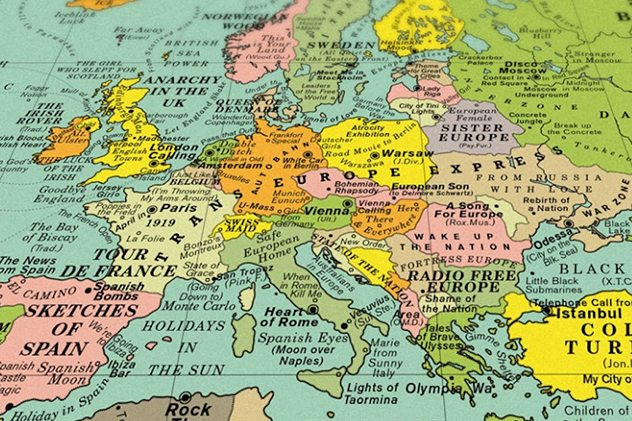 Designers Create the Map of the World with Song Titles Instead of