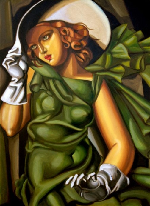 Woman with a Green Glove