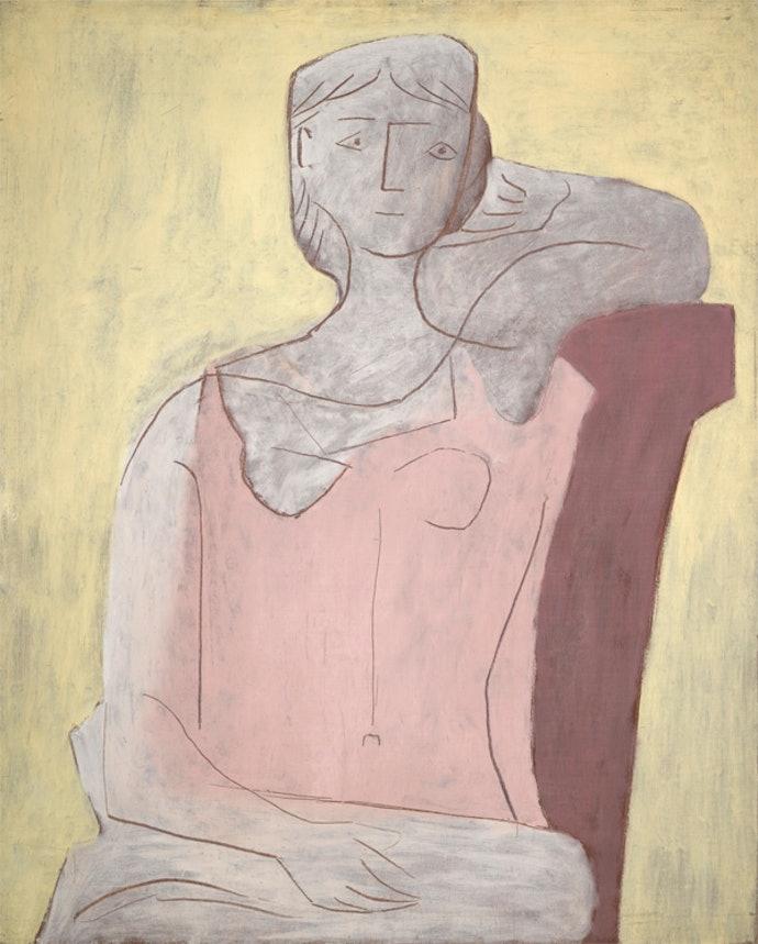 Pablo-Picasso_Femme-a-la-robe-rose_1917