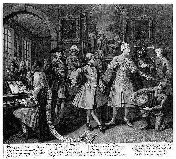 William_Hogarth_-_A_Rake's_Progress_-_Plate_2_-_Surrounded_By_Artists_And_Professors