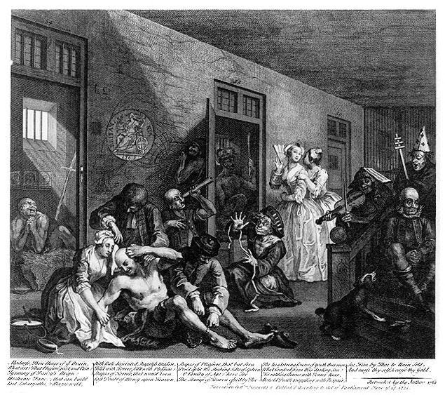 William_Hogarth_-_A_Rake's_Progress_-_Plate_8_-_In_The_Madhouse