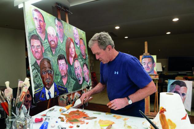 Книжка скартинами авторства Буша-младшего стала бестселлером вСША