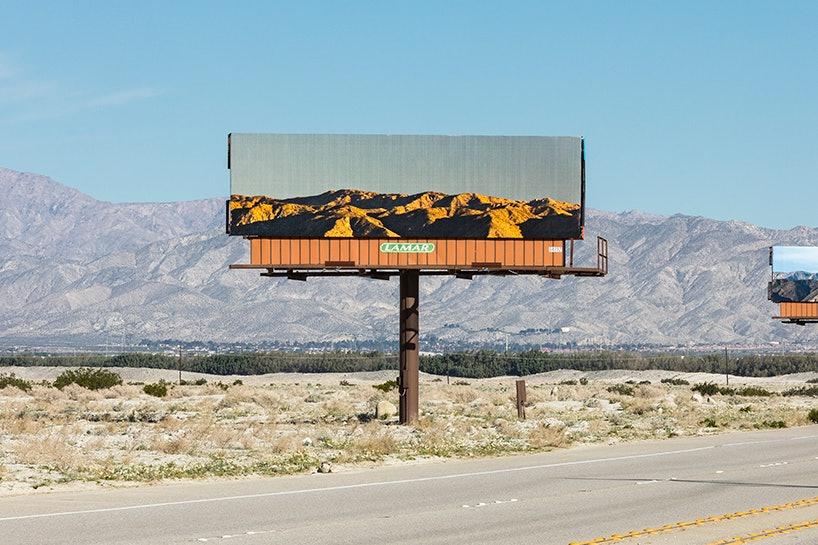 Художница заменила изображения на рекламных щитах на скрытые ими пейзажи. Интернет — журнал birdinflight.com
