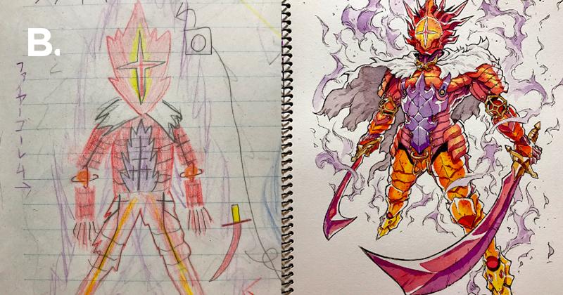 Художник превращает наброски своих сыновей в рисунки мультяшных персонажей — Bird In Flight