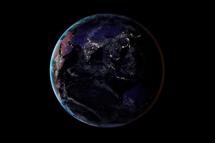 NASA показало ночную карту Земли