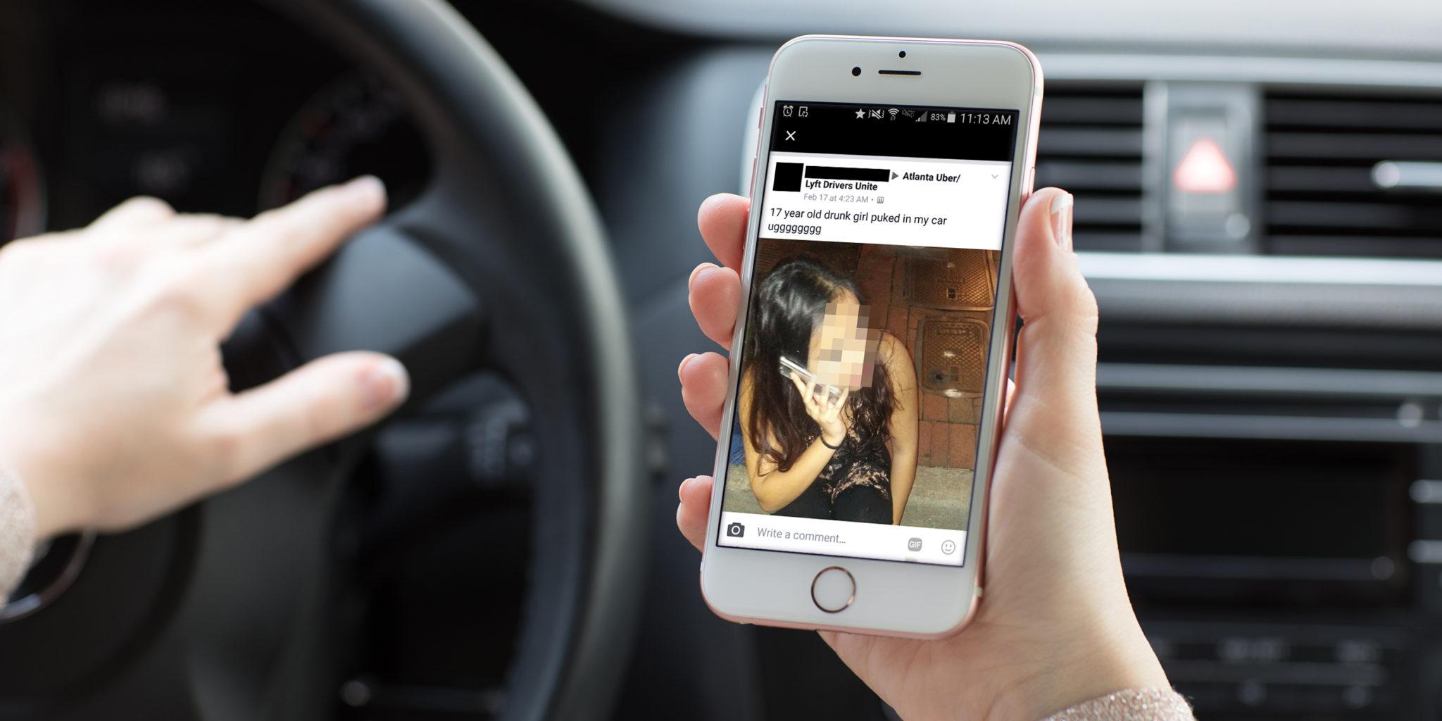 Водители Uber создали в социальная сеть Facebook сообщество, где насмехаются над пассажирами