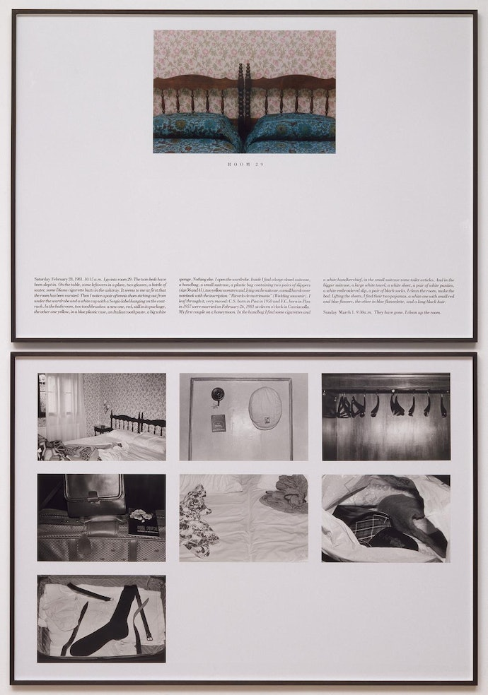 The Hotel, Room 29 1981 by Sophie Calle born 1953