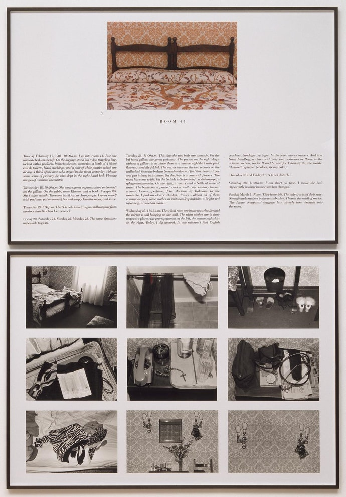 The Hotel, Room 44 1981 by Sophie Calle born 1953