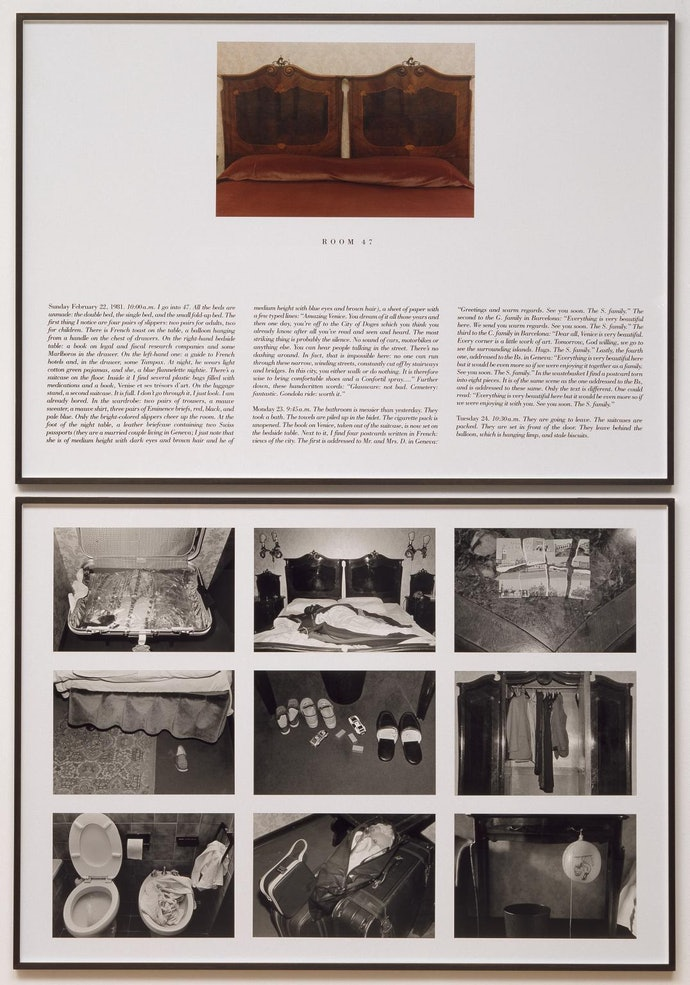 The Hotel, Room 47 1981 by Sophie Calle born 1953