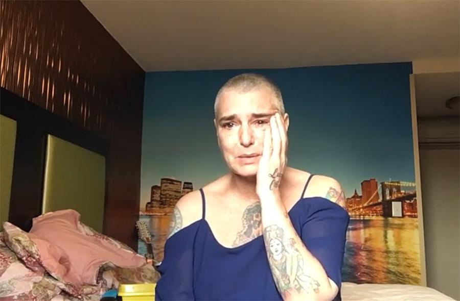 Шинейд О'Коннор записала ролик, вкотором сообщает о самоубийстве