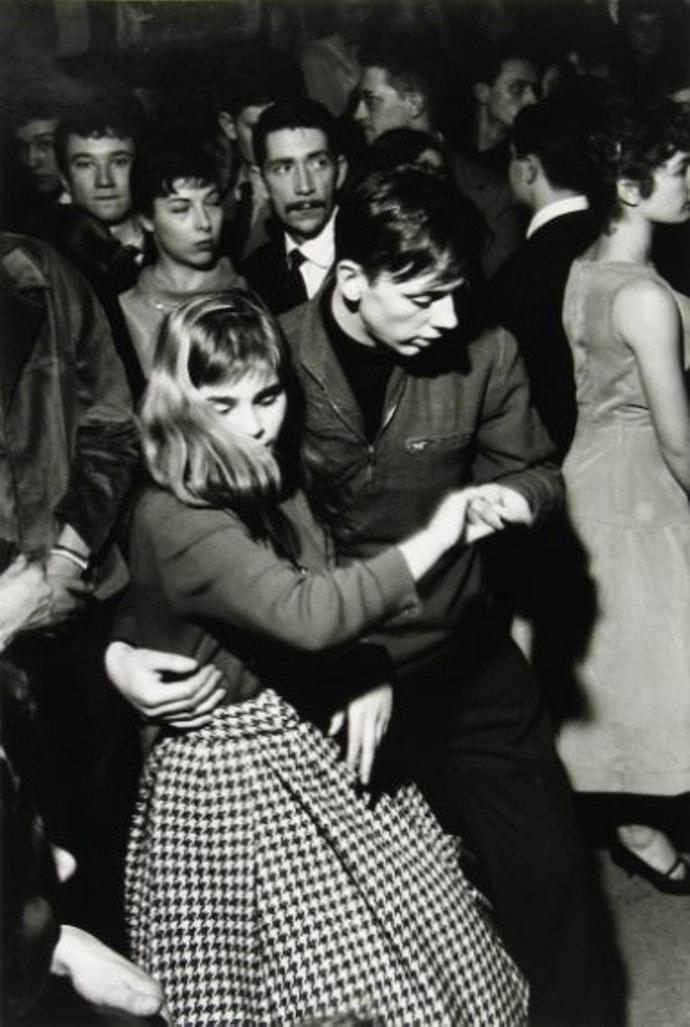 Beat Times... Couple dancing the Jive in the Maxim Suarez Jazz Club, Rue Hachette, Paris, France, 1956