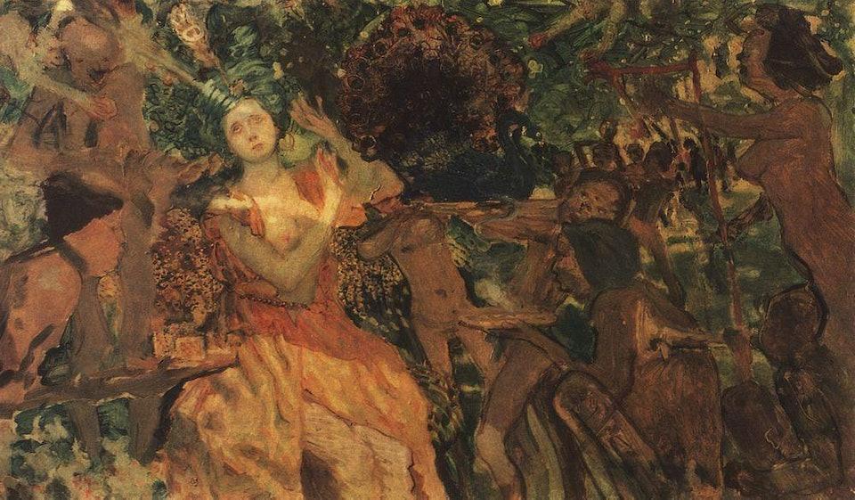 Людмила в саду у Чорномора