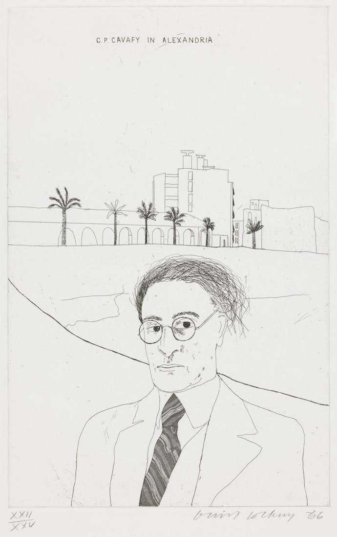 Portrait of Cavafy in Alexandria 1966 by David Hockney born 1937