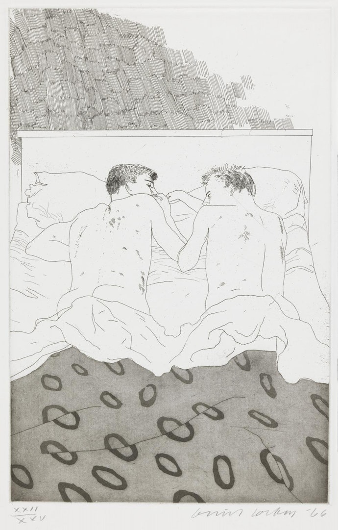 Two Boys Aged 23 or 24 1966 by David Hockney born 1937