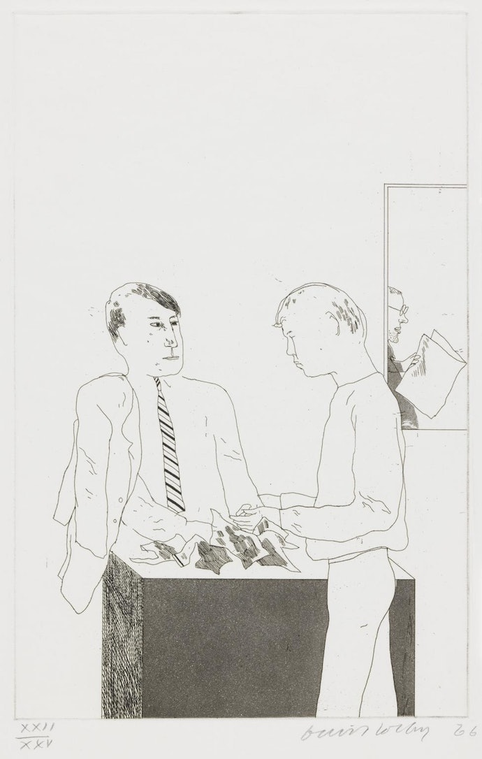 He Enquired After the Quality 1966 by David Hockney born 1937