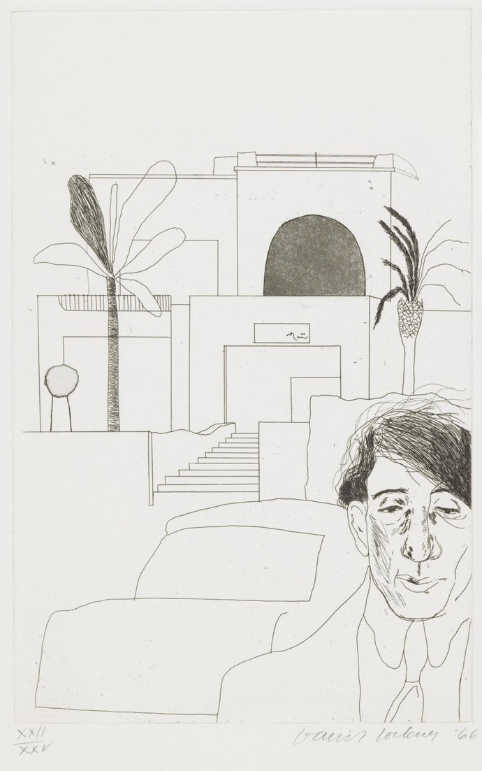 Portrait of Cavafy II 1966 by David Hockney born 1937