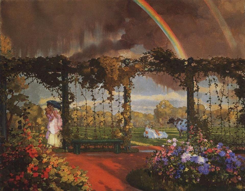 Пейзаж с радугой