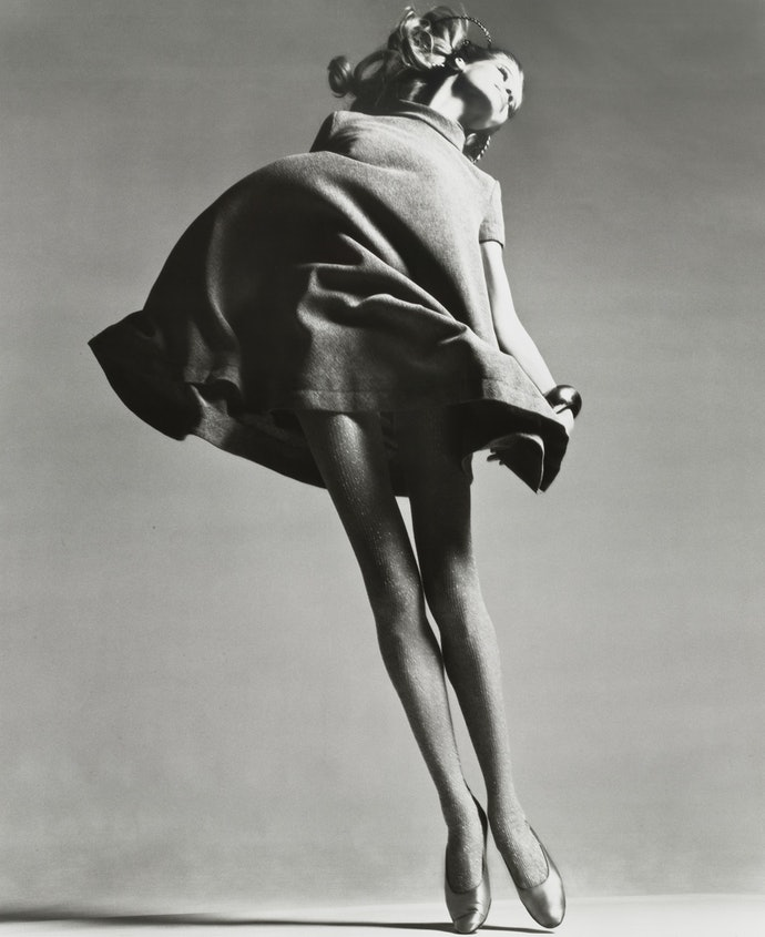 Veruschka, dress by Bill Blass, New York
