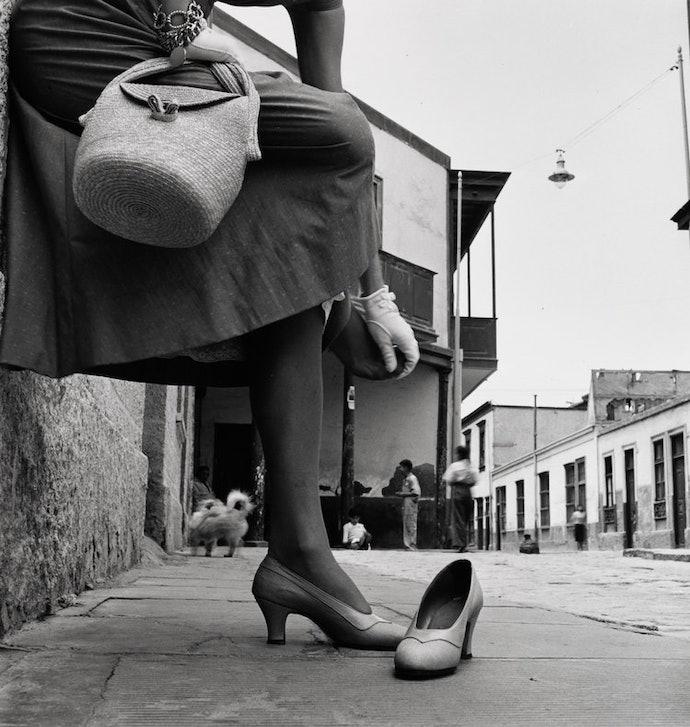 sore_foot_jean_patchett_lima_peru_1948