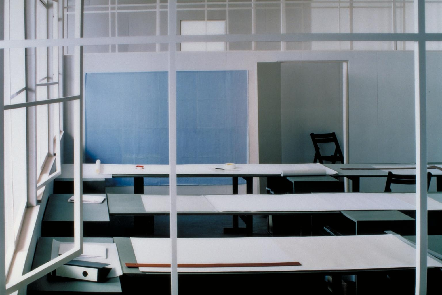 Zeichensaal (Drafting Room) 1996 by Thomas Demand born 1964