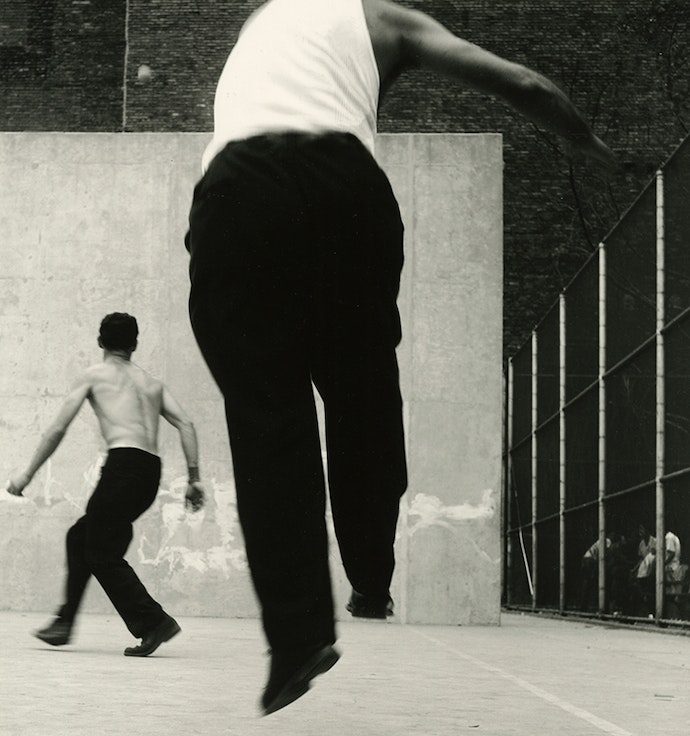 3.-Handball-Players,-Houston-Street,-New-York,-1955