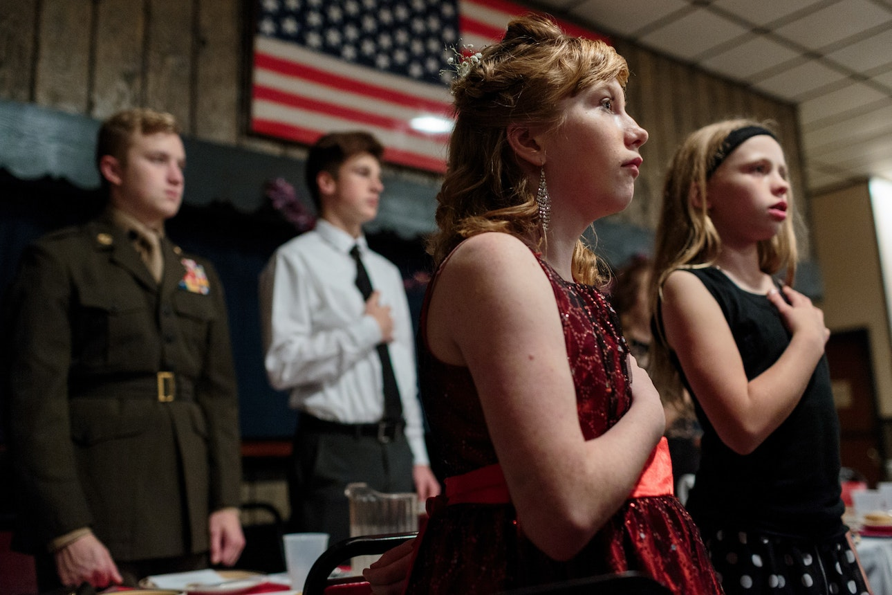 Young Marines attend a ball at a local VFW, Hanover, PA.