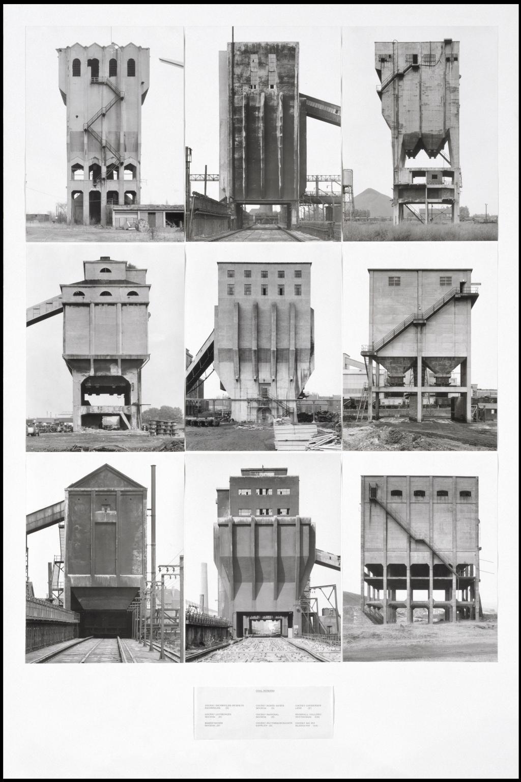 Coal Bunkers 1974 by Bernd Becher and Hilla Becher 1931-2007, 1934-2015